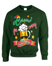 Adult Sweatshirt Cheers For Coming Beer Lover Xmas Gift Idea