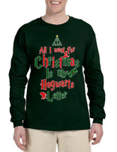 Men's Long Sleeve All I Want For Xmas Is Hogwarts Letter Cool Gift