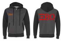 Unisex Varsity Full-Zip Hooded Sweatshirt