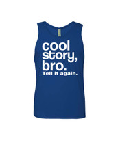 Cool Story bro. tell it again Men's Jersey Tank Top