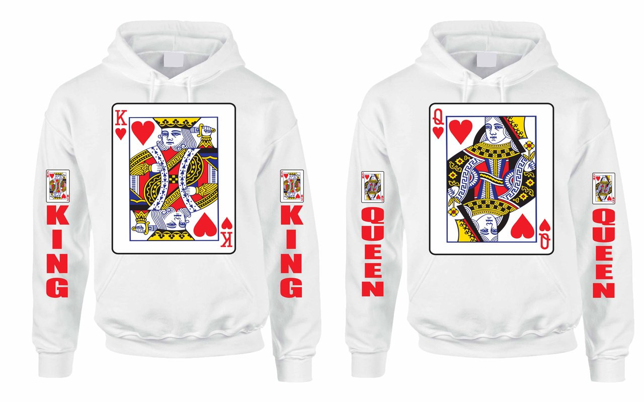 f643d6bf55 King and Queen couples gifts Hooded Sweatshirt. Price: $59.99. Image 1