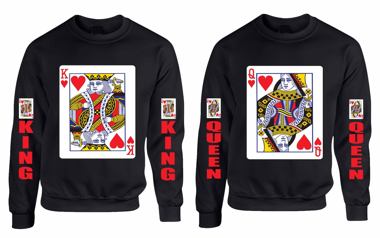 d6aefaad88 King and Queen couples gifts Sweatshirt - ALLNTRENDS