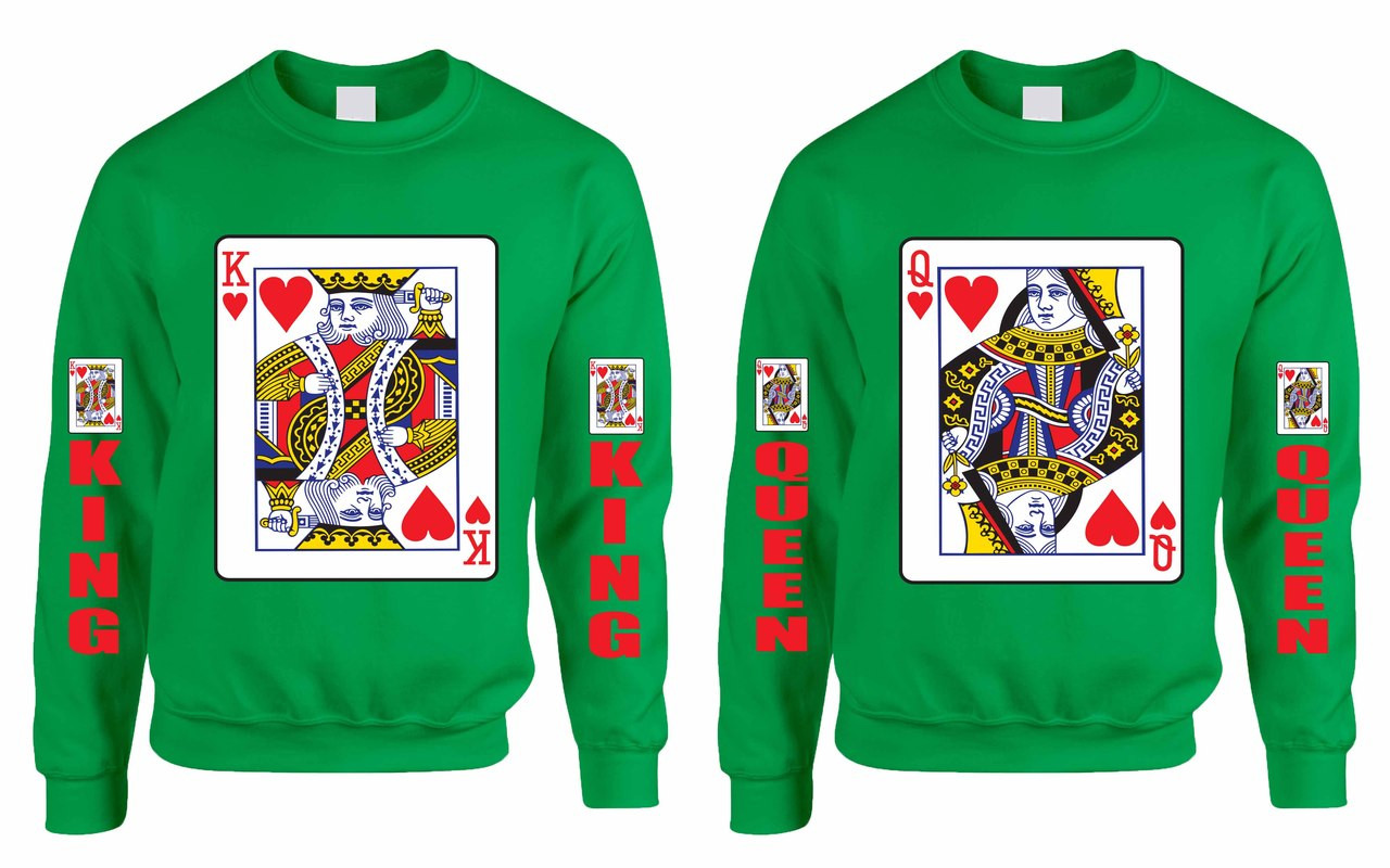 d4686bfe5c King and Queen couples gifts Sweatshirt. Price: $59.99. Image 1. Larger /  More Photos