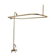 Add A Shower Kit, Gooseneck, Lever Handles, No Showerhead, Polished Brass