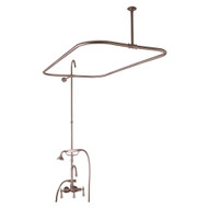 "Add A Shower Kit, Hand Shower, 48"" Curtain Rod,  Lever Handles, Polished Brass"