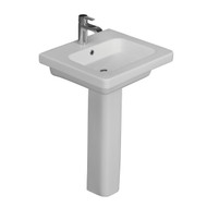 "Barclay Resort 500 Pedestal Sink, 8"" Widespread, White Finish"