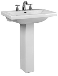 "Barclay Mistral 650 Pedestal Sink, 4"" Centerset Faucet, White Finish"