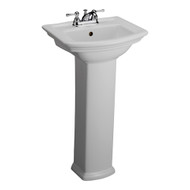 "Barclay Washington 460 Pedestal Sink, 8"" Widespread, White Finish"
