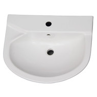 Barclay Anabel 555 Pedestal Lavatory, 1-Hole Faucet, White Finish