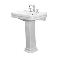 "Barclay Sussex 550 Pedestal Sink, 4"" Centerset Faucet, White Finish"
