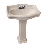 "Barclay StanFord 660 Pedestal Sink, 8"" Widespread, Bisque Finish"