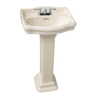 "Barclay StanFord 460 Pedestal Sink, 4"" Centerset Faucet, Bisque Finish"