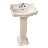 "Barclay StanFord 460 Pedestal Sink, 6"" Mini Widespread, White Finish"
