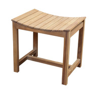"20"" Freestanding Teak Slatted Shower Stool"