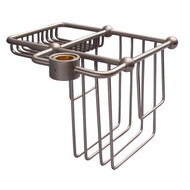 Wire Bath Caddy Shower Riser Mount in Brushed Nickel