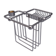 Wire Bath Caddy Shower Riser Mount in Polished Chrome