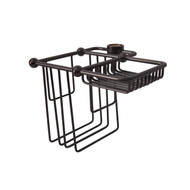 Wire Bath Caddy Shower Riser Mount in Oil Rubbed Bronze