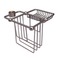 Wire Bath Caddy Shower Riser Mount in Polished Nickel