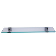 "Nayland 20"" Glass Shelf with Matt Black Hardware"