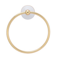 Anja Towel Ring in Antique Brass
