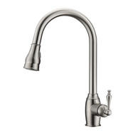 Bay 1 Kitchen Faucet, Pull-Out Sprayer, Single Lever Handle, Brushed Nickel