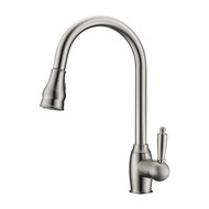Bay 2 Kitchen Faucet, Pull-Out Sprayer, Single Lever Handle, Brushed Nickel