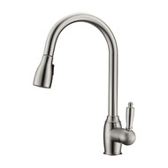 Bristo 2 Kitchen Faucet, Pull-Out Sprayer, Single Lever Handle, Brushed Nickel