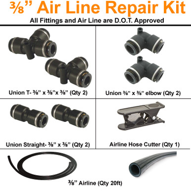 """3/8"""" Airline Repair Kits is the perfect solution for repairing 3/8"""" airline."""