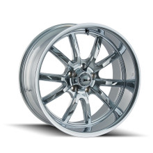 Ridler 650 Chrome 20X10 5-114.3 0mm 83.82mm