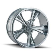 Ridler 651 Chrome 20X8.5 5-114.3 0mm 83.82mm
