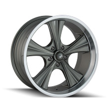 Ridler 651 Grey/Machined Lip 20X8.5 5-127 0mm 83.82mm