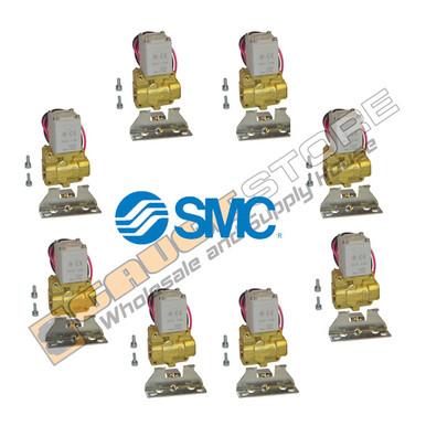8 Pack of SMC pneumatic air valves part number VXD232BZ1DBXB