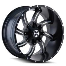 Cali Offroad Twisted Satin Black/Milled Spokes 20X14 8-180 -76mm 124.1mm