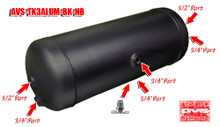 3 Gallon Aluminum Black Tank  No Brackets