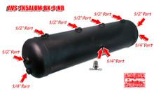 5 Gallon Aluminum Tank with 9 Ports- Black