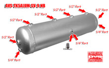 5 Gallon Aluminum Tank with 9 Ports- Silver