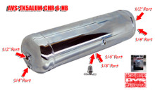 5 Gallon Aluminum Tank with 6 Ports- Chrome