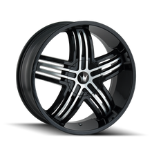 Mazzi 368 Entice Gloss Black/Machined Face 5-115/5-139.7 18mm 87mm