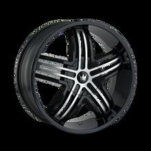Mazzi 368 Entice Gloss Black/Machined Face 24X9.5 6-135/6-139.7 30mm 106mm
