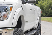 Nissan Pocket Fender Flares | Rivets (17-19 Titan) front wheel view
