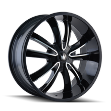 Mazzi 366 Obsession Gloss Black/Machined Face 20X8.5 5-115/5-120 18mm 74.1mm