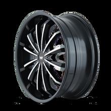 Mazzi 341 Fusion Gloss Black/Machined Face 18X7.5 5-110/5-115 40mm 72.62mm
