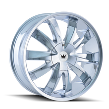 Mazzi 337 Edge Chrome 22X8.5 5-112/5-120 35mm 72.56mm