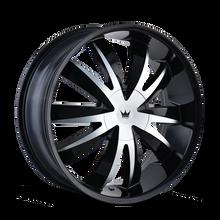 Mazzi 337 Edge Gloss Black/Machined Face 22X8.5 5-115/5-120 18mm 74.1mm