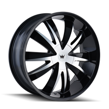 Mazzi 337 Edge Gloss Black/Machined Face 20X8.5 5-108/5-114.3 35mm 72.56mm