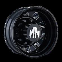 Mayhem BigRig 8180 Rear Black/Milled Spokes 24.5X8.25 10-285.75 168mm 220.1mm