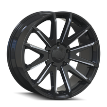 Mayhem Crossfire 8109 Gloss Black/Milled Spokes 22x9.5 6-135 25mm 87.1mm