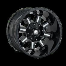 Mayhem Combat 8105 Gloss Black/Milled Spokes 20X9 6-120/6-139.7 18mm 78.10mm