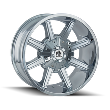 Mayhem Arsenal 8104 Chrome 22X12 8-165.1/8-170 -44mm 130.8mm