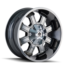 Mayhem Fierce 8103 PVD2 Chrome 20X9 8-180 18mm 124.1mm